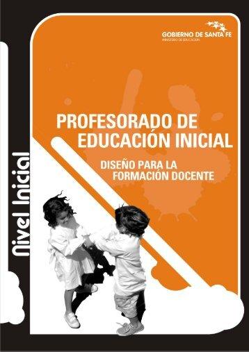 Profesorado de Educación Inicial. 529-09 - Gobierno de la Provincia ...