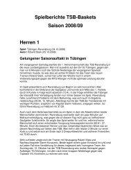 Spielberichte Saison 2008/2009 (PDF) - Tsb-baskets.de