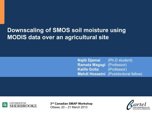 Downscaling of SMOS soil moisture using MODIS data... (N ... - SMAP