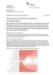 97% leben gern in Bern - Wirtschaftsraum Bern