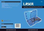 Hub Puller & Driveshaft Remover/Press Kit www.lasertools.co.uk ...