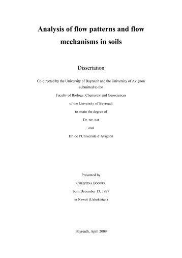 Chapter 2 Analysis of flow patterns - Université d'Avignon et des ...
