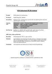 Pipelife Norge AS FDV-dokument PE 80 trykkrør - Atea