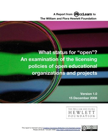 "What status for ""open"" - Education - Creative Commons"