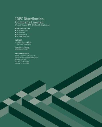 IdfC distribution Company Limited