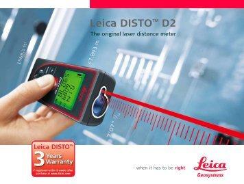 Leica DISTO™ D2 - Leica Geosystems