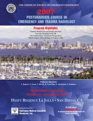 ASER 18th Annual Scientific Meeting Brochure - American Society ...