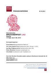 Presseunterlage zum Download 23. Oktober 2012 - Brucknerfest Linz