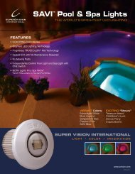 SaVi Pool & Spa Light - Product Brochure - INYOPools.com