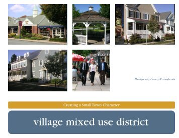 village mixed use district cover - Montgomery County, PA