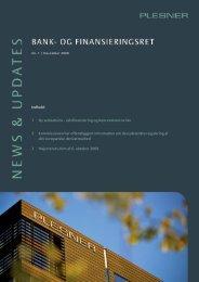 1 Ny selskabslov - selvfinansiering og koncerninterne lån ... - Plesner