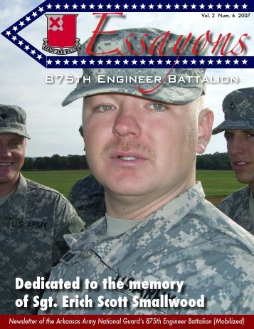 Dedicated to the memory of Sgt. Erich Scott Smallwood - Arkansas ...