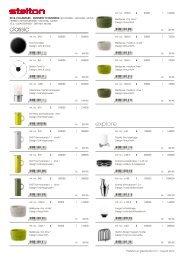 Stelton prisliste 2012 (B2B) - PRO-mote A/S