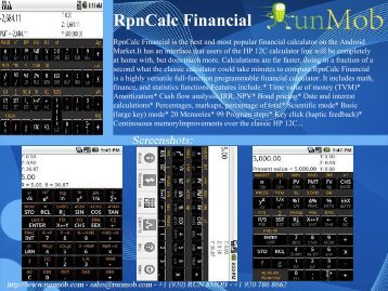 RpnCalc Financial - RunMob