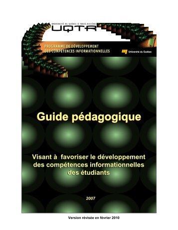 Guide pédagogique - PDCI - Université du Québec