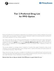 2013 PPO Tier 2 Drug List - Pitney Bowes Project: Living