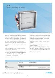 Shut-off, Balancing And Gas Damper - Halton
