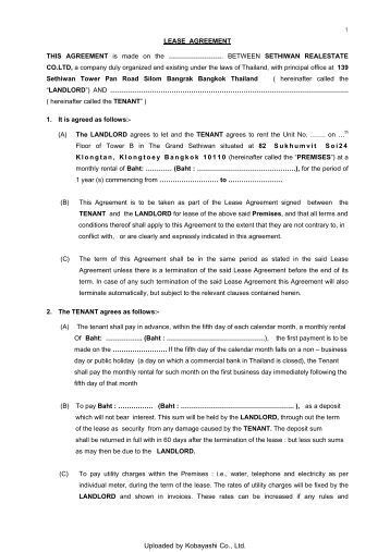 Agreement Of Assumption And Assignment Of Lease Great