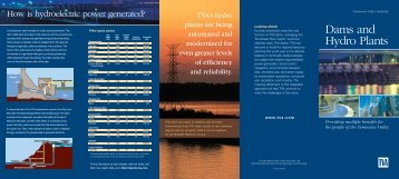 TVA's dams and hydro plants - Tennessee Valley Authority