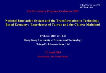 National innovation system and the transformation to technology ...