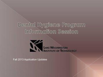 Fall 2013 Application Updates