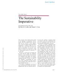 The Sustainability Imperative - Natural Capitalism Solutions