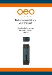Bedienungsanleitung User manual - geo-FENNEL GmbH