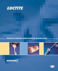 products for the fabrication of hearing aids - Loctite
