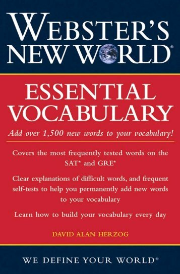Essential Vocabulary - Noel's ESL eBook Library