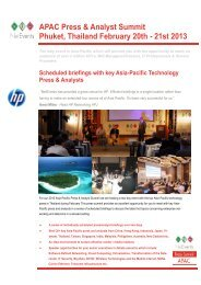 NetEvents APAC Press and Analyst Summit, Phuket, Thailand ...