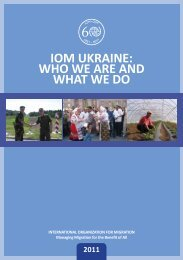 IOM UKRAINE: WHO WE ARE AND WHAT WE DO