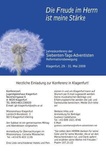Konferenz Klagenfurt - Reformierte Siebenten-Tags-Adventisten in ...
