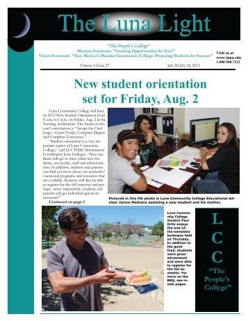 Volume 6, Issue 27 - Luna Community College