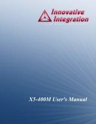X5-400M User's Manual