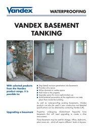 Vandex Basement Tanking (164k) - Safeguard Europe Ltd.