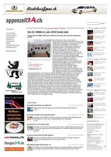 Die 23. HEMA im Jahr 2010 findet statt - HEMA Herisau