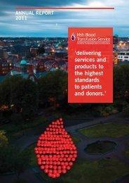 IBTS Annual Report 2011.pdf - Irish Blood Transfusion Service