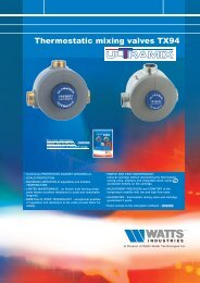 Thermostatic mixing valves TX94 - Watts Industries