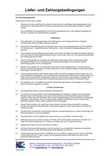 Liefer Und Zahlungsbedingungen : allgemeine liefer und zahlungsbedingungen kolbus ~ A.2002-acura-tl-radio.info Haus und Dekorationen