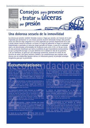 Consejos para prevenir y tratar las úlceras por presión - SEFaC