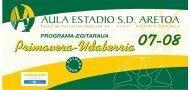 PROGRAMA PRIMAVERA 08 - Fundacion Estadio, SD