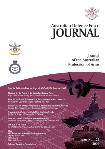 ISSUE 173 : Jul/Aug - 2007 - Australian Defence Force Journal