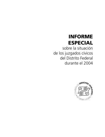 Informe especial sobre la situación de los juzgados cívicos del ...