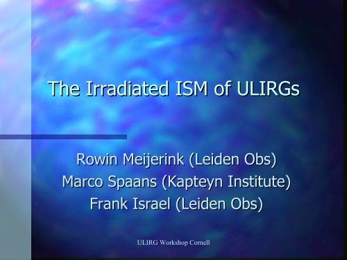 The irradiated ISM of ULIRGs