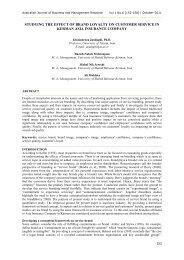 Studying the effect of brand loyalty on customer - Australian Journal ...