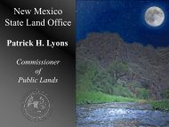 New Mexico State Land Office - New Mexico Game and Fish