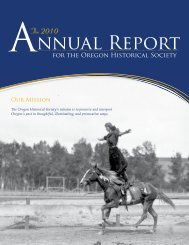 nnual Report - Oregon Historical Society