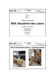 DNA: Bausteine des Lebens - Lifescience-Learningcenter