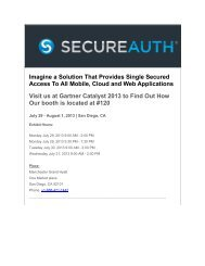 Imagine a Solution That Provides Single Secured ... - SecureAuth