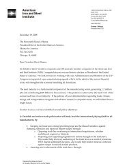AISI Letter to President Elect Obama - American Iron and Steel Institute